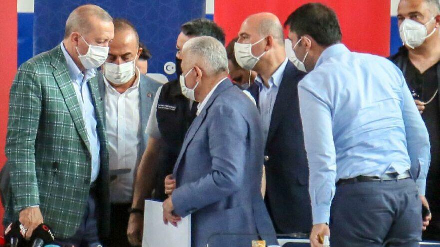 Erdoğan: Yanan evler yeniden yapılacak