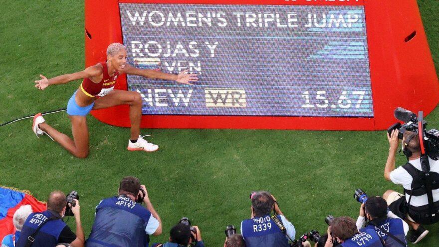 Yulimar Rojas uzun atlamada dünya rekoru kırdı | 2020 Tokyo Olimpiyatları