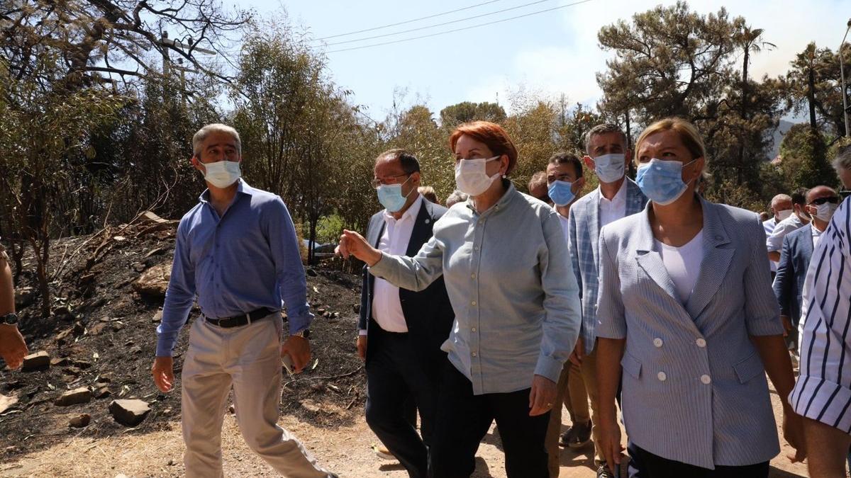 Akşener yangın bölgesinde: Orman kundaklama terör suçu sayılsın
