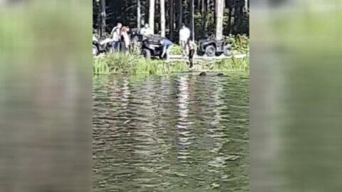 ATV ile göle uçtular