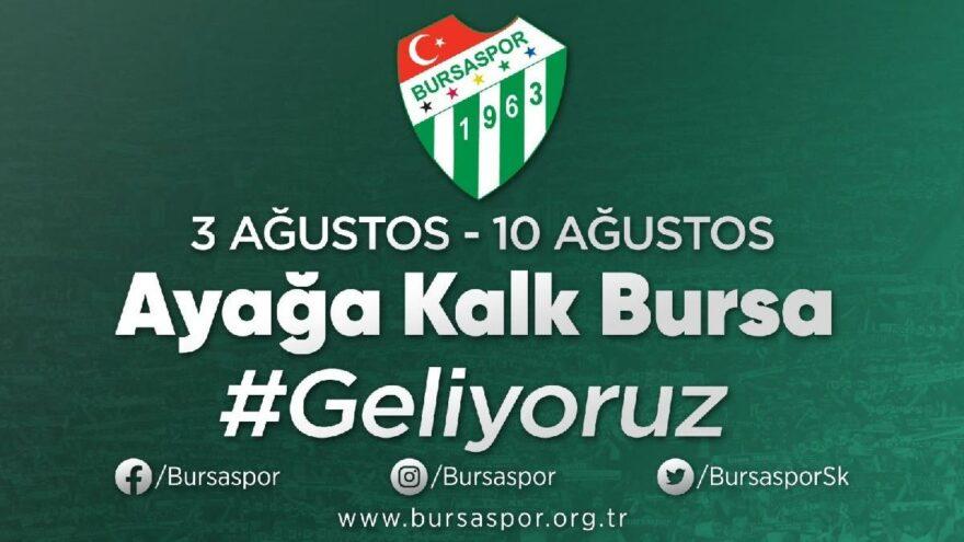 Bursaspor'dan destek kampanyası duyurusu