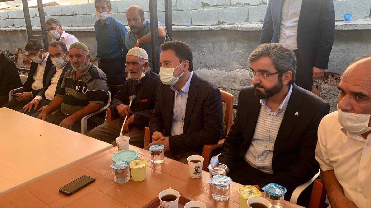 Dedeoğlu ailesini ziyaret eden Babacan: Adalet talebinin takipçisi olacağız