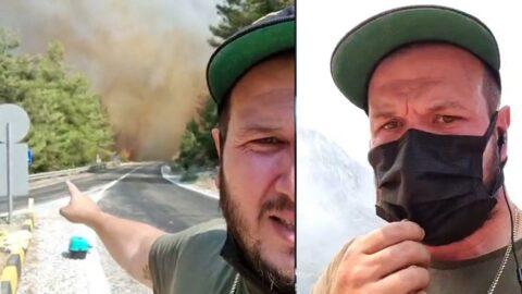 Şahan Gökbakar'ın yangın yayını büyük yankı uyandırdı