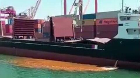 Mersin'de denizi kirleten gemiye rekor ceza