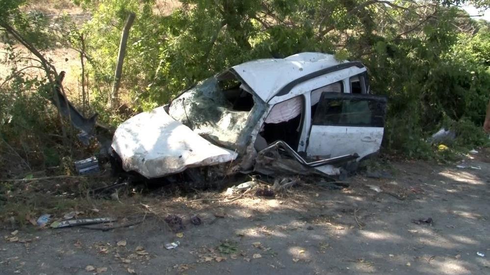 Tatil dönüşü feci kaza: 2 kişi ağır yaralı