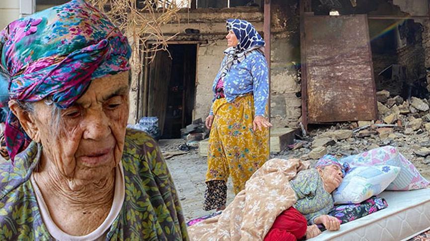 Türkiye'nin konuştuğu fotoğraftaki kadının kızı: Annem alzheimer hastası, evinin yandığından haberi yok