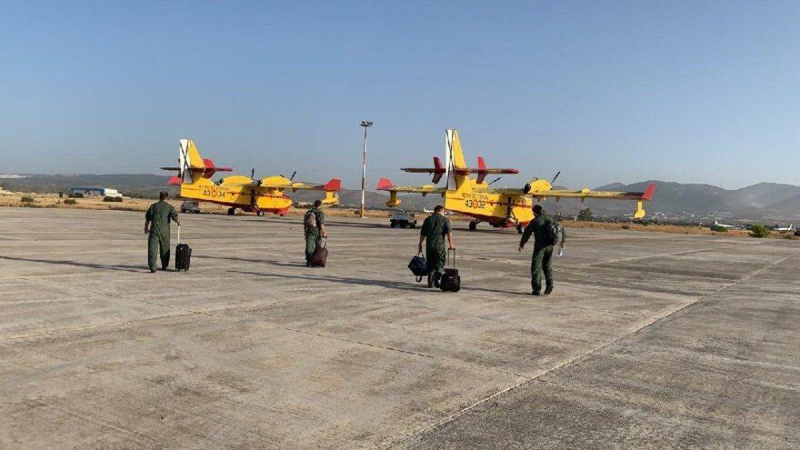 İspanyol uçakları Köyceğiz'deki yangına müdahale etti