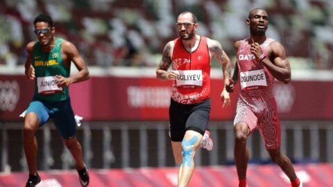 Ramil Guliyev madalyaya koşuyor