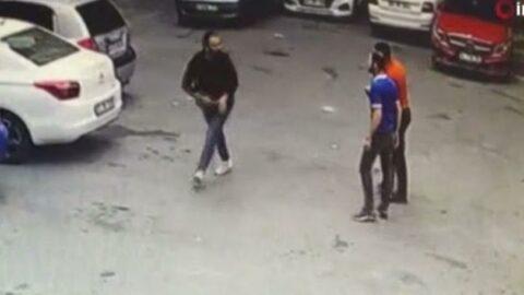 Beyoğlu'ndaki cinayet anları kamerada
