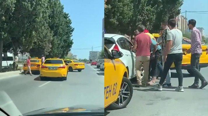 Taksiciler kadın sürücü adayına dehşeti yaşattı