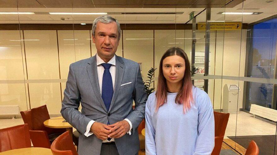 Olimpiyatların olay ismi Krystsina Tsimanouskaya, Polonya'ya ulaştı