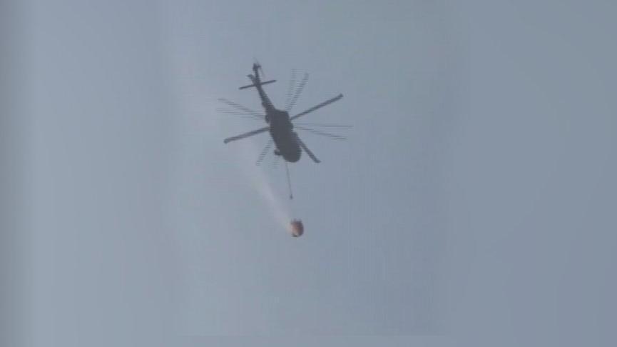 Bakan Soylu duyurdu! Helikoptere bambi takıldı, yangın filosuna eklendi