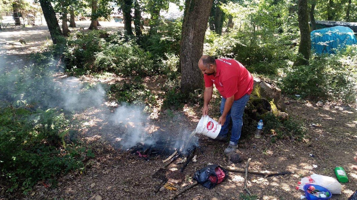 Tüm uyarılara rağmen mangal ateşi yaktılar