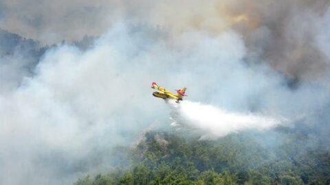 İspanya'nın uçakları Muğla'daki yangına müdahale ediyor