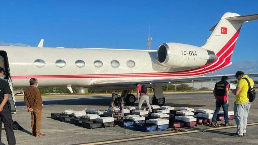 Brezilya polisi Türk uçağında yüzlerce kilo kokain yakaladı