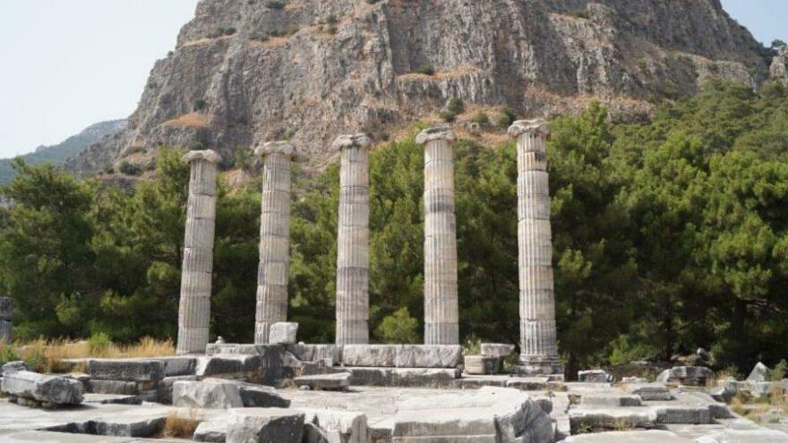 Priene Antik kenti ziyarete kapatıldı