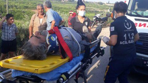 Mersin'de takla atan araç şarampole uçtu: 3 yaralı