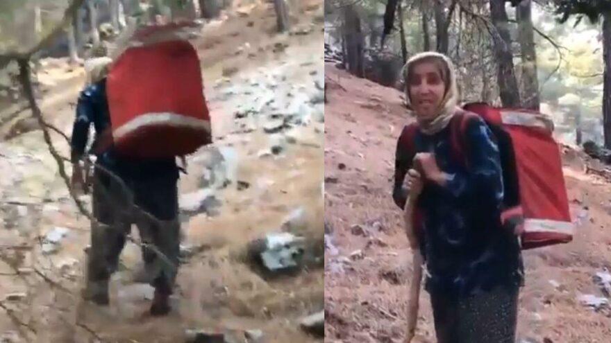 Ormancılara sırtında taşıdığı erzakla Türkiye'yi duygulandıran Durdu Teyze