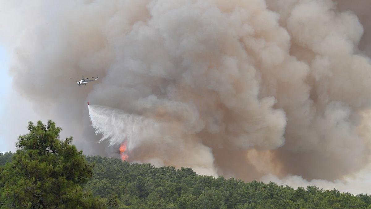 Manavgat yangınında 10. gün! 14 noktadan alevler yükseliyor