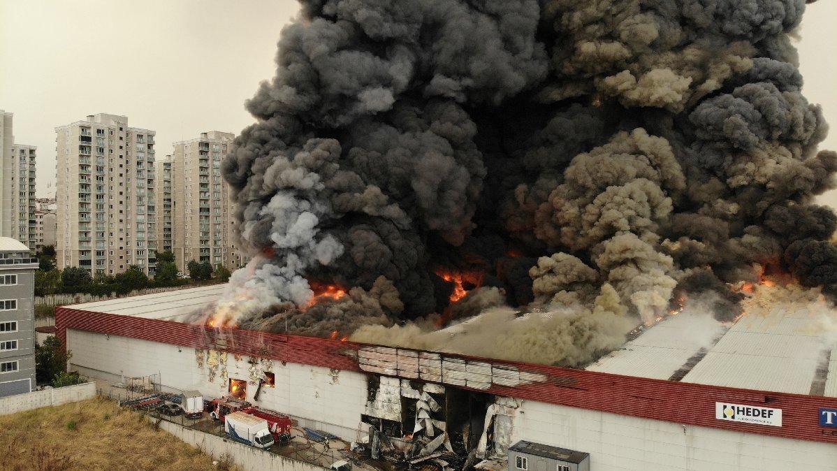 Esenyurt'ta yangın