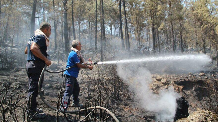 Manavgat ve Gündoğmuş yangınları kontrol altına alındı