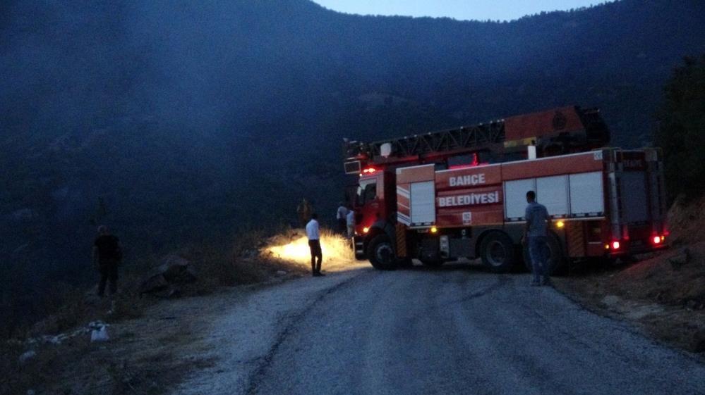 Yerleşim yeri yakınında başlayan yangın büyümeden söndürüldü