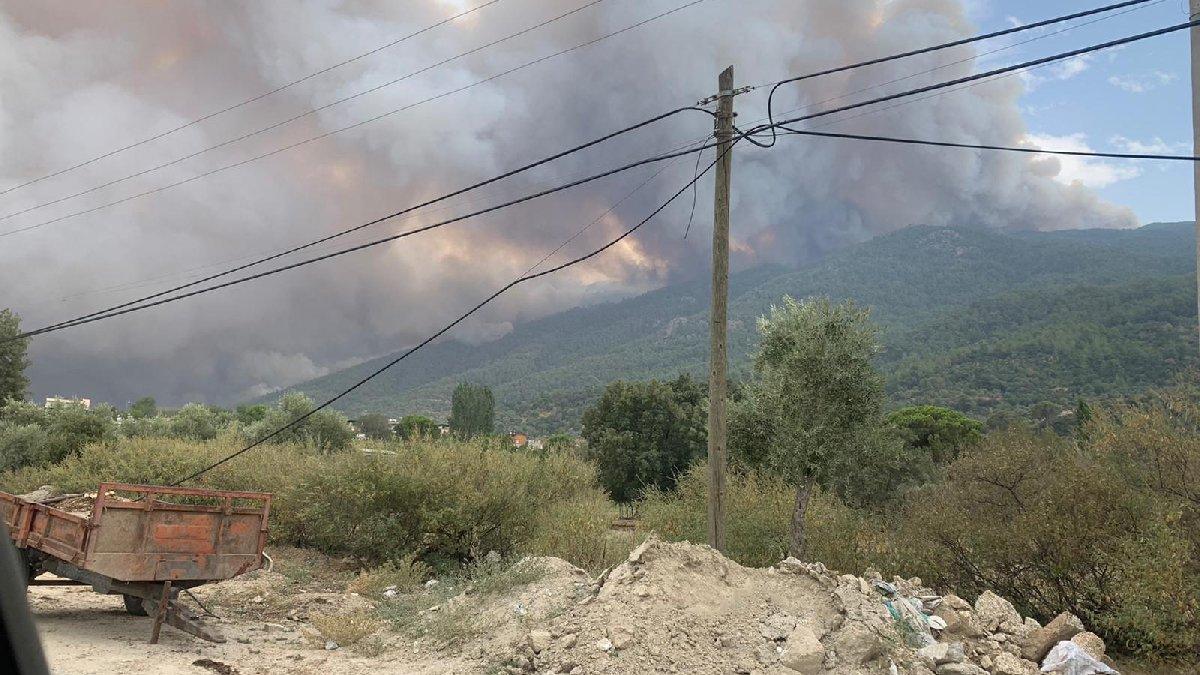 Yatağan'da başlayan yangın Çine'ye yöneldi: 2 mahalle tahliye edildi