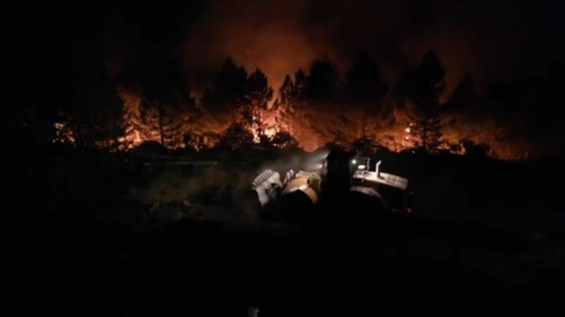 Kaymakam Soley: Karacasu yangını bir hafta daha sürecek