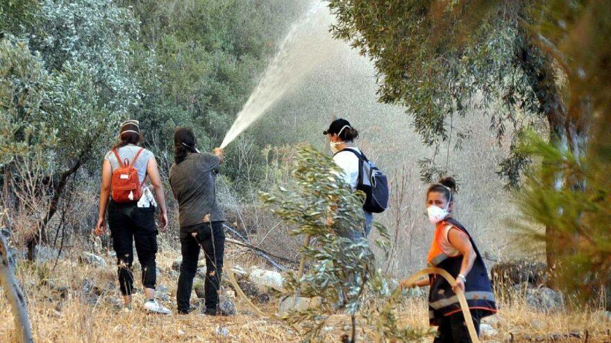 Milas'ta yangınlar etkisini kaybetmeye başladı