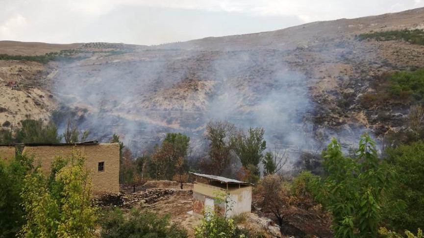 Malatya'da ormanlık alanda çıkan yangın söndürüldü