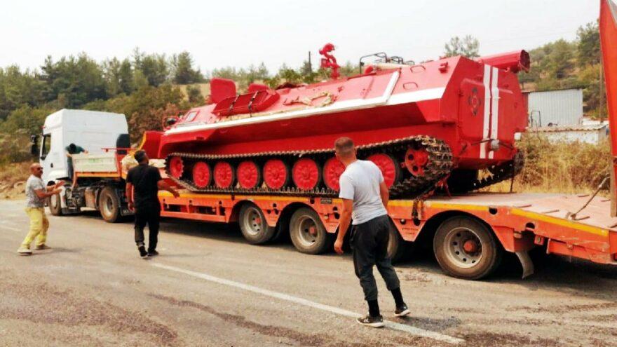 Türkiye'de bir tane var, orman yangınlarında itfaiye tankı ilk kez devreye girdi