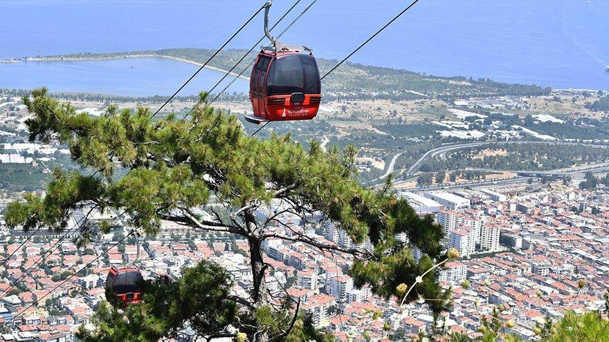 İzmir'de yangın riski nedeniyle teleferik 1 hafta daha kullanılmayacak