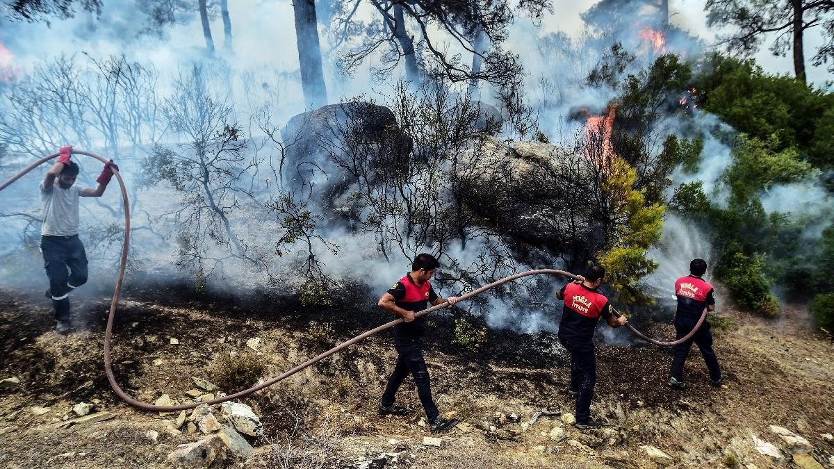 Milas'ta yangın sekizinci gününde