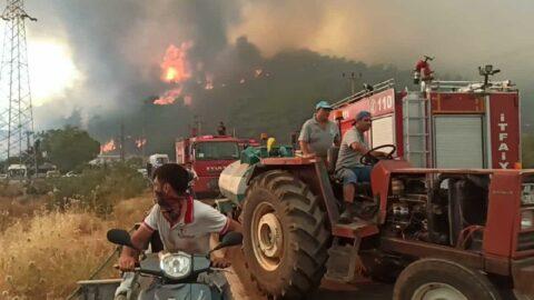 Korkutan yangınlar sonrası 38 bin 715 kişi tahliye edildi