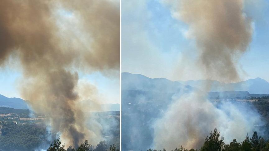 Kaş'ta orman yangını başladı