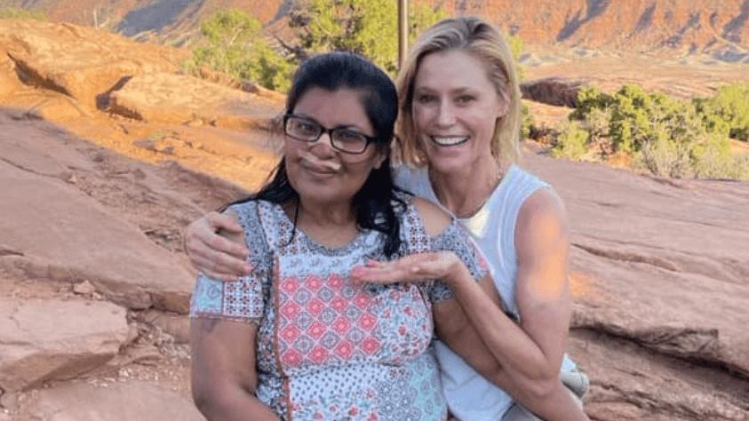 Bayılan yürüyüşçüye Modern Family oyuncusu Julie Bowen yardım etti