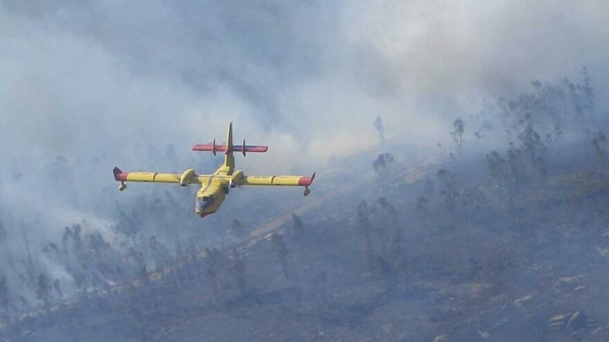 İspanya bu sefer Yunanistan'daki yangınlara müdahale ediyor