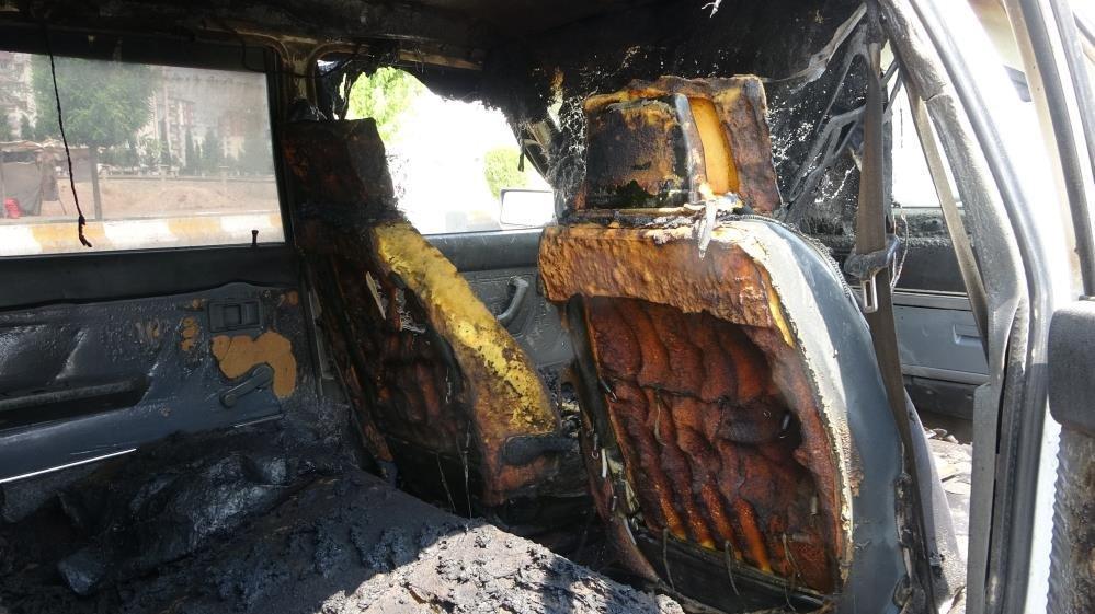 LPG'li otomobil bomba gibi patladı