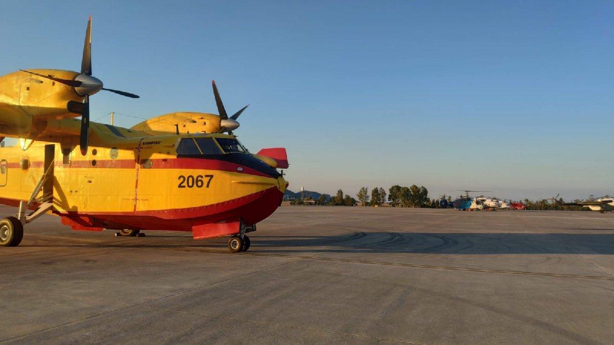 Muğla'daki yangınlarına İspanya uçakları 116 ton su boşalttı
