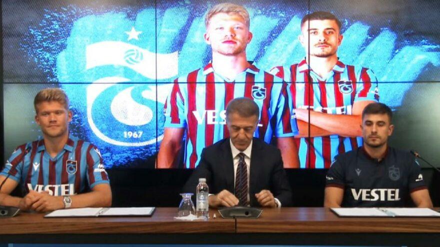 Trabzonspor'da Andreas Cornelius ve Dorukhan Toköz için imza töreni düzenlendi