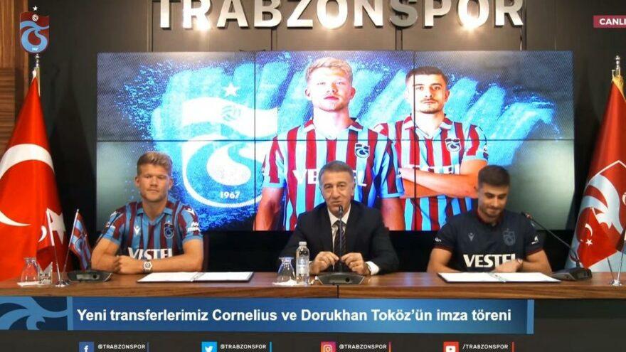 Trabzonspor, Adreas Cornelius'un bonservis bedelini ve maaşını KAP'a bildirdi