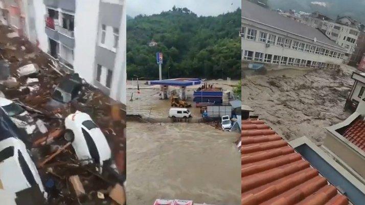 Kastamonu'da felaket: 8 ilçe 10 dakikada sel altında kaldı