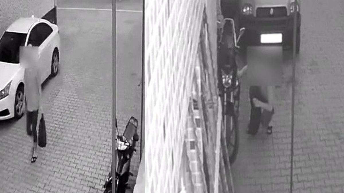 Motosikleti bırakıp benzinini çaldı