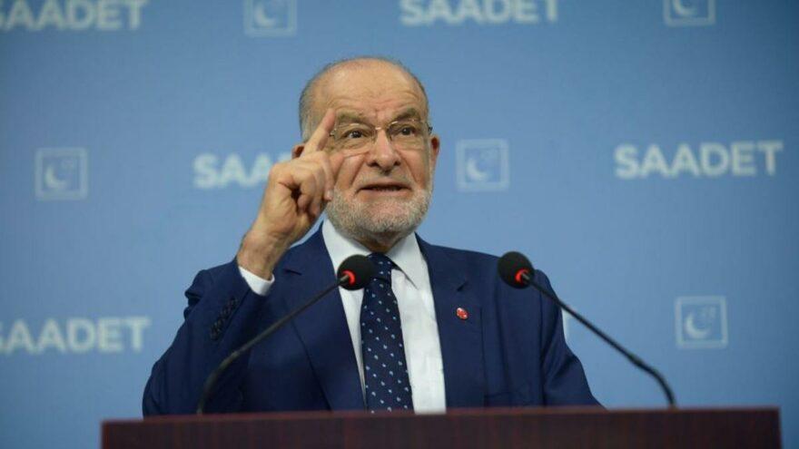 Karamollaoğlu iktidarı eleştirdi, saya saya bitiremedi