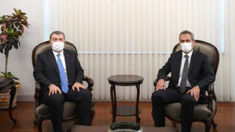 Bakan Koca, Milli Eğitim Bakanı Özer'le bir araya geldi