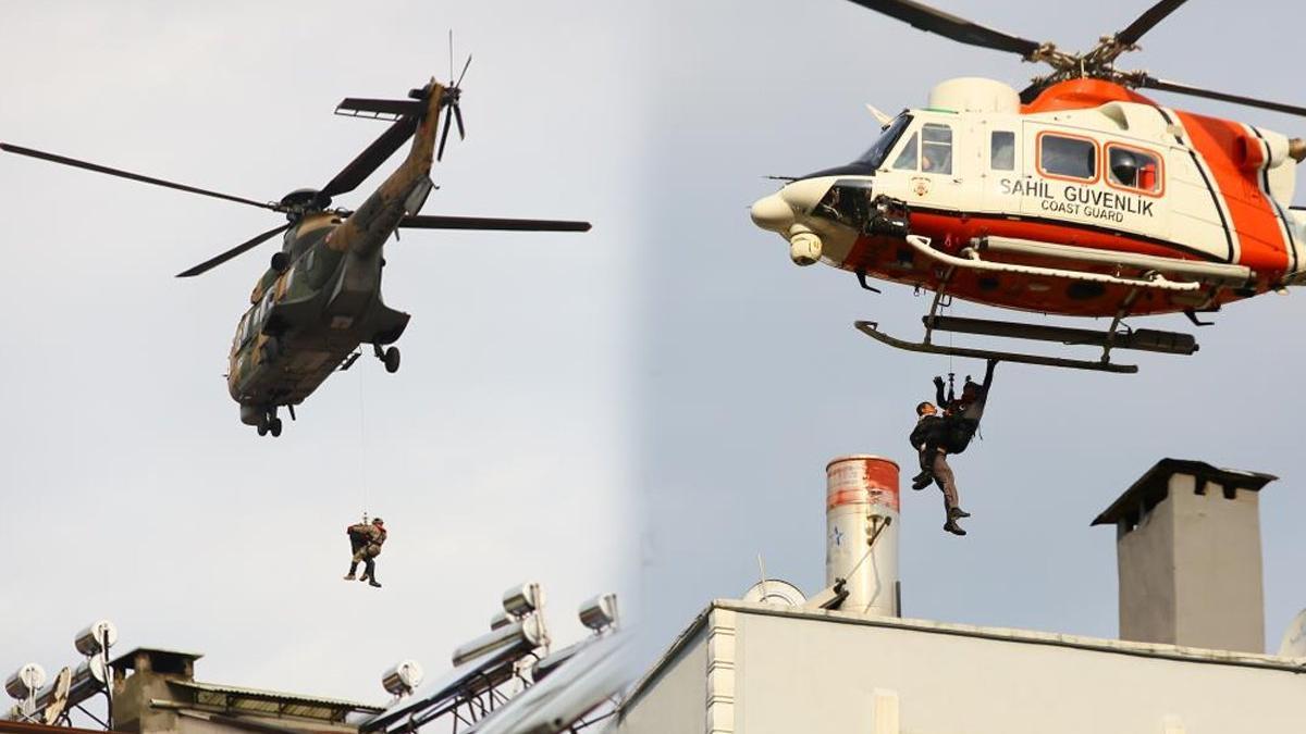 Binalarında mahsur kalan selzedeler helikopterlerle kurtarılıyor