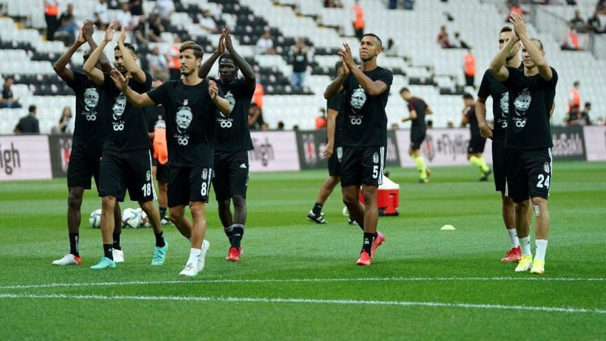 Beşiktaşlı futbolcular, Süleyman Seba tişörtüyle sahaya çıktı