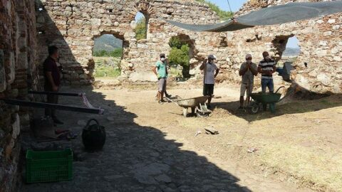 Magnesia Antik Kenti'nde ortaya çıkarıldı... Heyecan yarattı