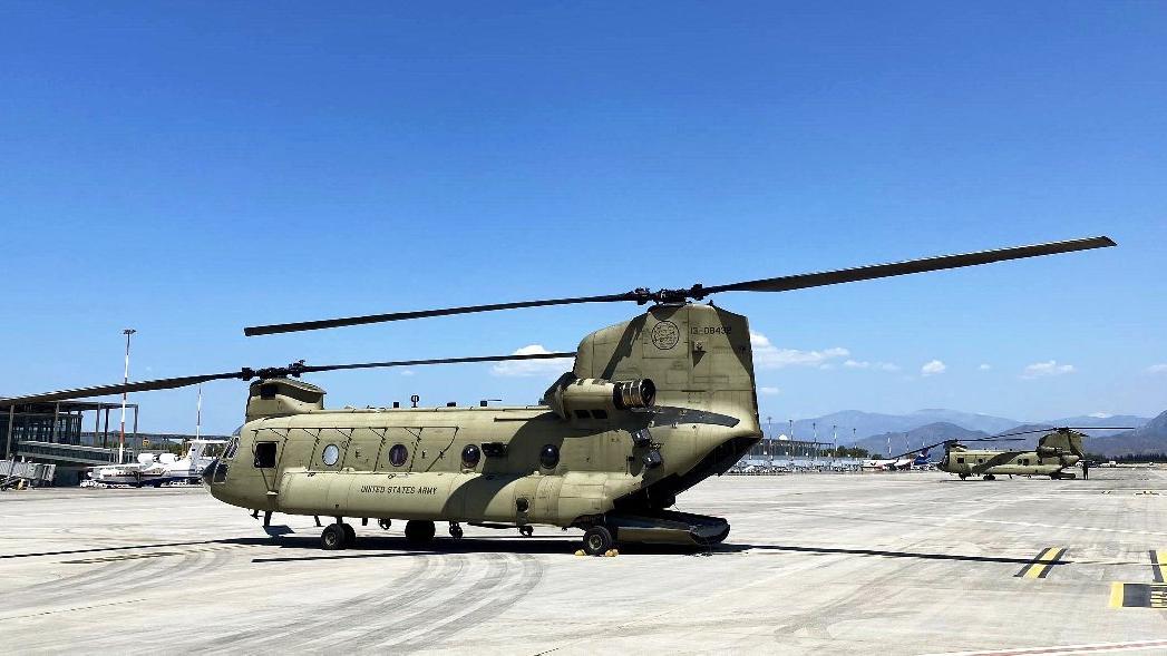 ABD'nin yangınlar için gönderdiği helikopter Dalaman'da