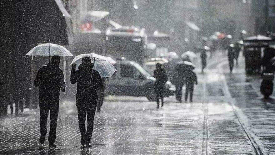 Meteoroloji'den 5 il için kuvvetli yağış uyarısı